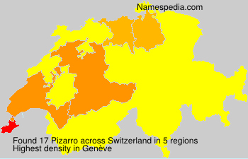 Surname Pizarro in Switzerland