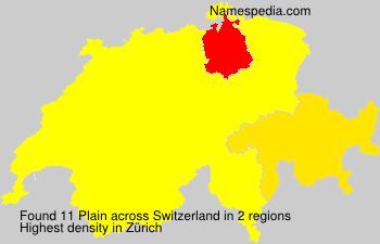 Surname Plain in Switzerland
