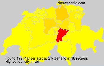 Familiennamen Planzer - Switzerland