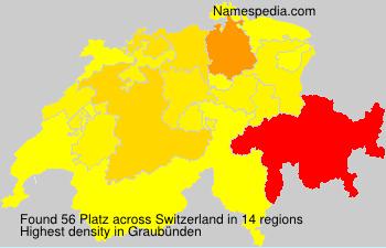 Surname Platz in Switzerland