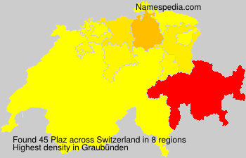 Surname Plaz in Switzerland
