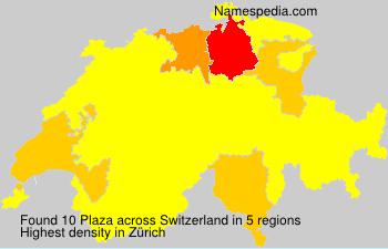 Surname Plaza in Switzerland