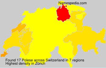 Familiennamen Polese - Switzerland