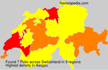 Surname Polin in Switzerland