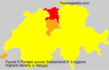 Surname Pompei in Switzerland