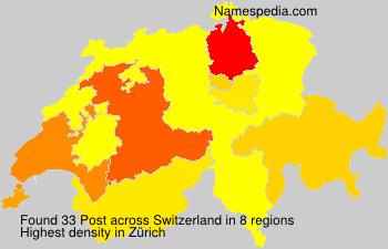 Surname Post in Switzerland