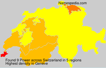 Surname Power in Switzerland