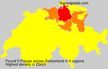 Surname Prause in Switzerland