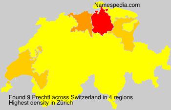 Familiennamen Prechtl - Switzerland
