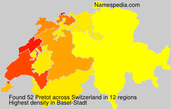 Surname Pretot in Switzerland