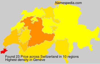 Familiennamen Price - Switzerland