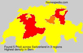 Familiennamen Prioli - Switzerland