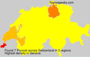 Surname Pruvost in Switzerland