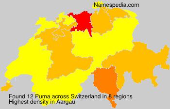 Surname Puma in Switzerland