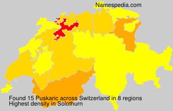 Surname Puskaric in Switzerland