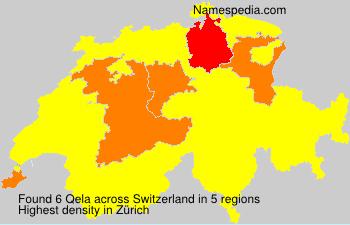 Surname Qela in Switzerland