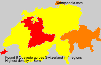 Surname Quevedo in Switzerland
