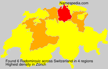 Surname Radomirovic in Switzerland