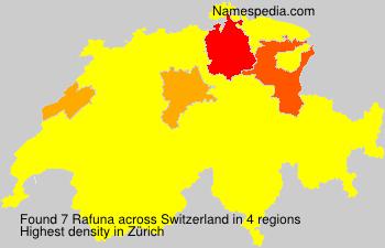 Surname Rafuna in Switzerland