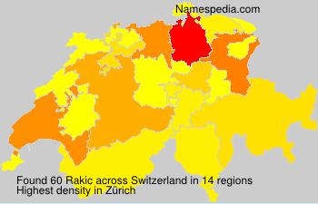 Surname Rakic in Switzerland