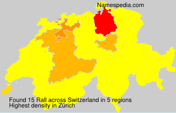 Surname Rall in Switzerland