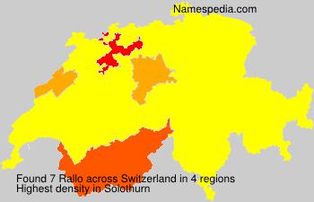 Surname Rallo in Switzerland