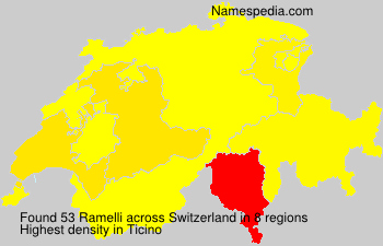 Surname Ramelli in Switzerland