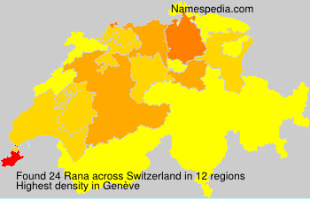 Surname Rana in Switzerland