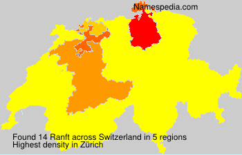 Surname Ranft in Switzerland