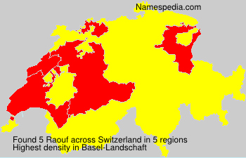 Surname Raouf in Switzerland