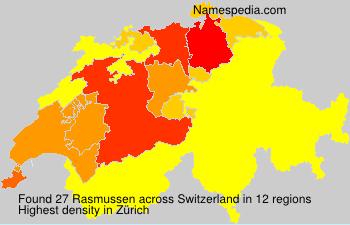 Surname Rasmussen in Switzerland