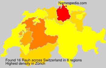 Surname Rauh in Switzerland