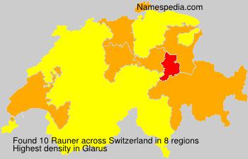 Surname Rauner in Switzerland