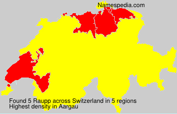 Surname Raupp in Switzerland