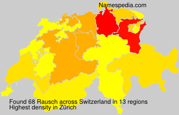 Surname Rausch in Switzerland