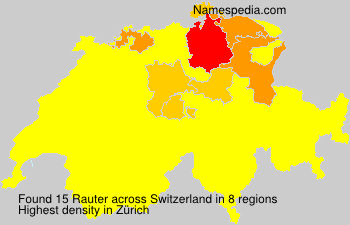 Surname Rauter in Switzerland