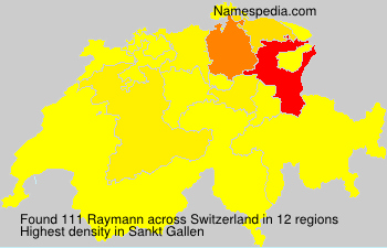 Surname Raymann in Switzerland