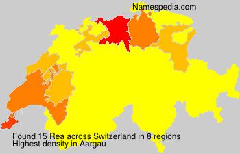 Surname Rea in Switzerland
