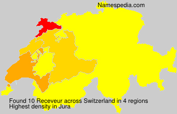 Surname Receveur in Switzerland