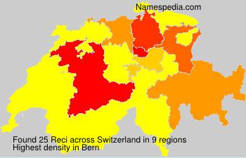 Surname Reci in Switzerland