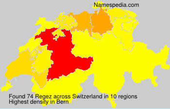 Surname Regez in Switzerland