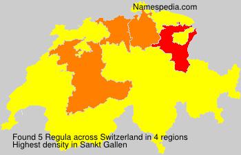 Surname Regula in Switzerland