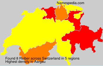 Surname Reiber in Switzerland