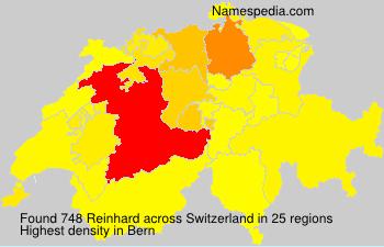 Surname Reinhard in Switzerland