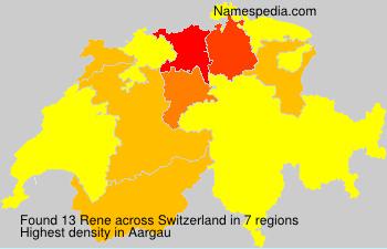 Surname Rene in Switzerland