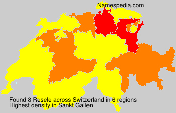 Surname Resele in Switzerland
