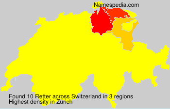 Surname Retter in Switzerland