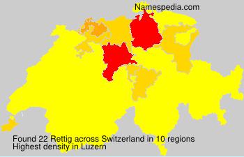 Familiennamen Rettig - Switzerland