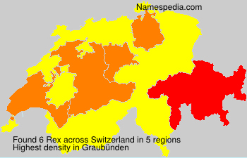 Familiennamen Rex - Switzerland