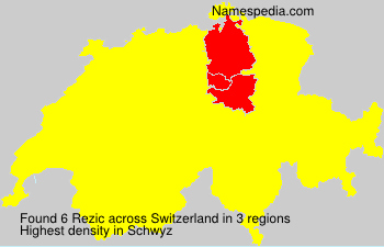 Surname Rezic in Switzerland